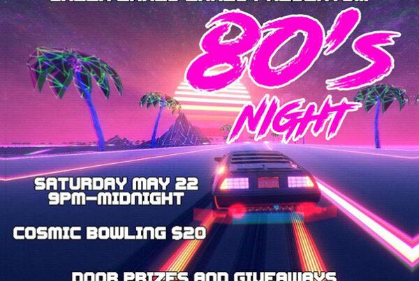 80s night Green Lakes Lanes