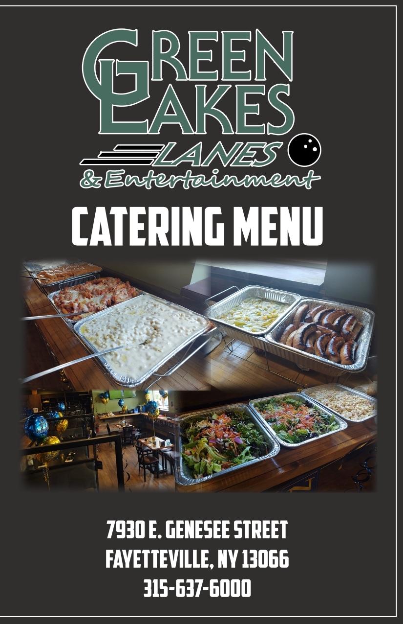 Catering Menu Green Lakes Bowling